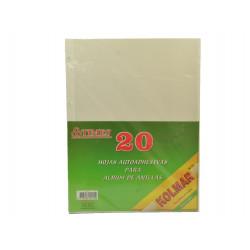 Hojas adhesivas para álbum de fotos - 20 unidades