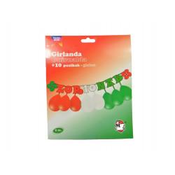 Guirnalda ¨Zorionak¨ con globos para cumpleaños