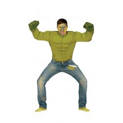 Disfraz de angry hero adulto. Disfraz de Hulk para adulto