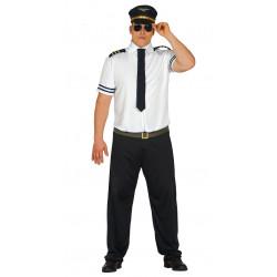Disfraz de sobrecargo adulto. Disfraz de piloto de avión para adulto