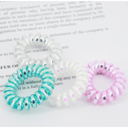 Set 4 gomas de pelo invisibles, pastel