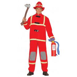 Disfraz de bombero adulto. Traje antifuego para adulto