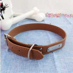 Collar de Perro c/ Chapa para Nombre, Ø20cm y largo 67 cm