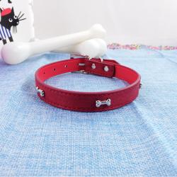 Collar de Perro con Huesitos, 43 cm