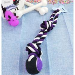 Pelota y Cuerda de Algodón para Perro, Varios Colores