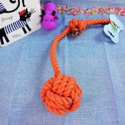 Cuerda de algodón c/ pelota para perros