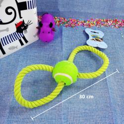 Cuerda en forma de 8 c/ pelota de tenis