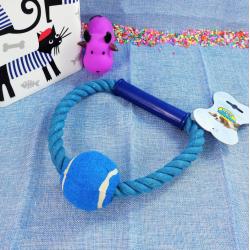 Cuerda en aro c/ plástico y pelota de tenis