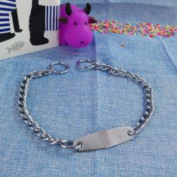 Collar cadena de acero con chapa, 50cm