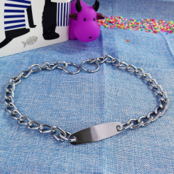 Collar cadena c/chapa p/ tu mascota, 60cm