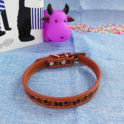 Collar p/perros ¨patitas¨, 1.5*37cm