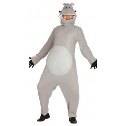 Disfraz de hipopótamo africano para adulto