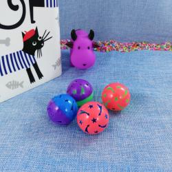Set de pelotas con cascabel para gatos, 4pcs