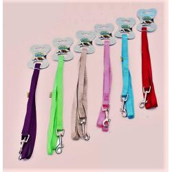 Correa de nylon liso p/pasear a tu pequeña mascota, largo 120cm, varios colores