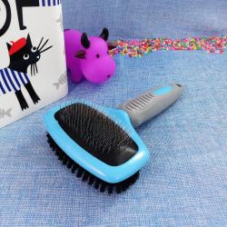 Cepillo de doble cara para perros y gatos, 20 cm