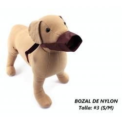 Bozal de Nylon para perros, talla 3 (S/M)