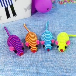 Set 4 Ratones de Cuerda con Sonido. Juguetes para gatos