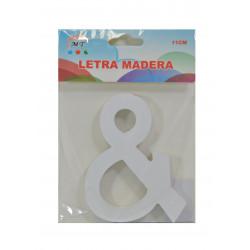 Símbolo & de Madera 11 cm