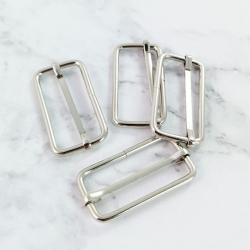 Hebillas de metal 37 mm, 4 unidades color plata