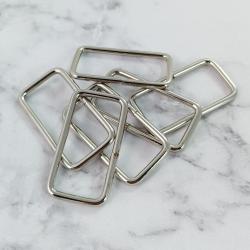 Pack 6 hebillas de metal 37*20 mm, plata