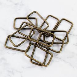 Pack 6 hebillas de metal 37*19 mm, bronce