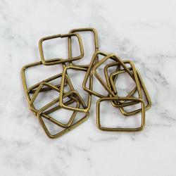 Pack 12 hebillas de metal 22*15 mm, bronce