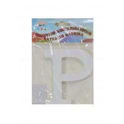 Letra P de Madera 11 cm