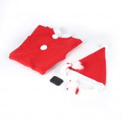 Traje de Papá Noel rojo para bebe,disfraz de Navidad