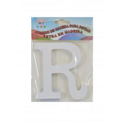 Letra R de Madera 11 cm