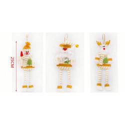 Colgante navideño patas largas 22 cm