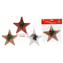 Colgante de estrella navideña