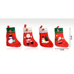 Calcetín navideño decorado