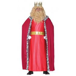 Disfraz Rey Mago Rojo para adulto