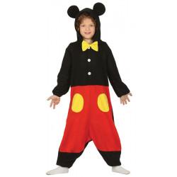 Disfraz Pijama de ratón infantil. Disfraz de Mickey Mouse para niño