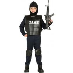 Disfraz de Policía SWAT Infantil. Traje SWAT para niño