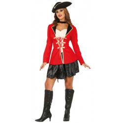 Disfraz de Pirata con Falda para Adulta
