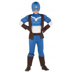 Disfraz de Capitán Superhéroe Infantil. Disfraz de Capitán América para Niño