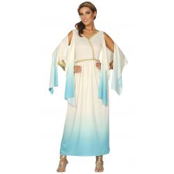 Disfraz de diosa griega adulta. Vestido blanco de atenea