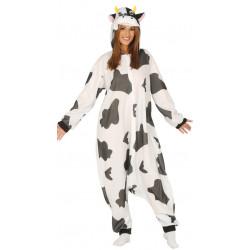 Disfraz de vaca para chico y chica. Pijama de vaca para carnavales