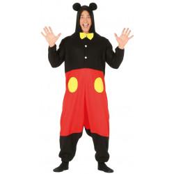 Disfraz pijama de ratón para adulto. Disfraz de Mickey Mouse