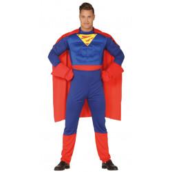 Disfraz de superhéroe musculoso adulto. Disfraz de Superman para adulto