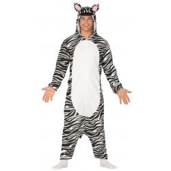 Disfraz pijama de cebra para adulto.