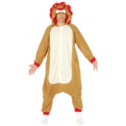 Disfraz de león para chico y chica. Pijama de león para adulto