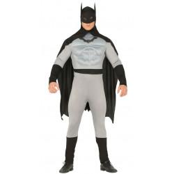 Disfraz de superhéroe musculoso negro adulto. Disfraz de Batman para adulto
