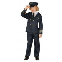 Disfraz de piloto infantil. Uniforme de aviador para niño