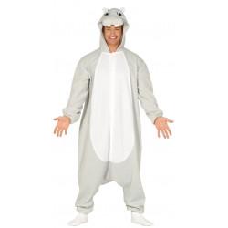 Disfraz Pijama de Hipopótamo para adulto. Disfraz de animales