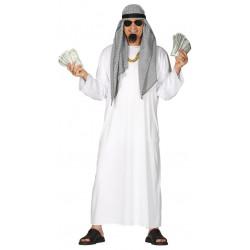Disfraz de árabe para adulto. Disfraz de Jeque blanco para adulto
