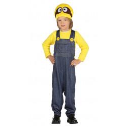 Disfraz de minero amarillo infantil. Disfraz de Minion para niño