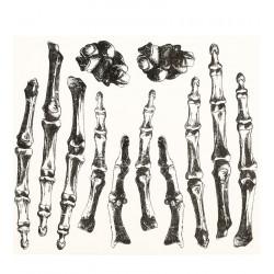 Tattoo de huesos para las manos