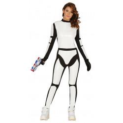 Disfraz de soldado espacial adulta. Disfraz de Stormtrooper mujer
